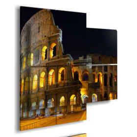 picture with photos Rome by night
