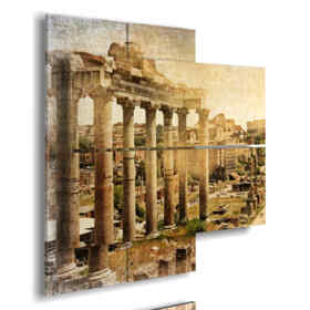 paintings with photos of ancient Rome