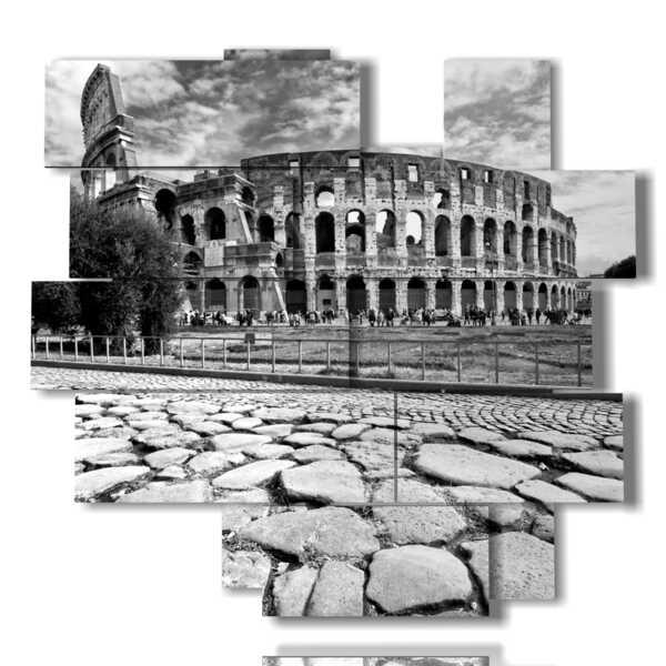 Colisée photo en noir et blanc