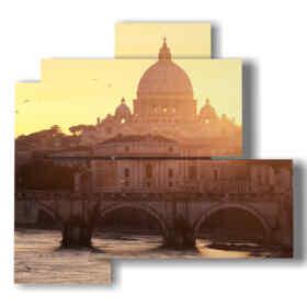 cuadro con fotos de Roma hoy