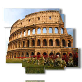 Modern picture with photos of Rome in spring