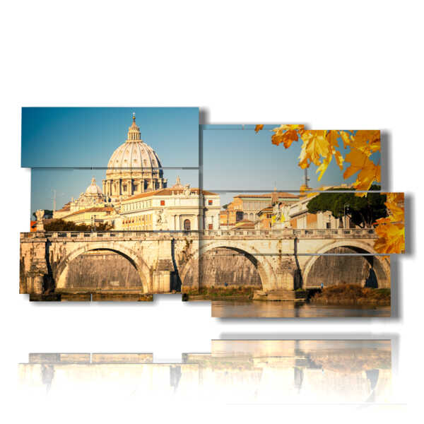 painting with autumn images in Rome