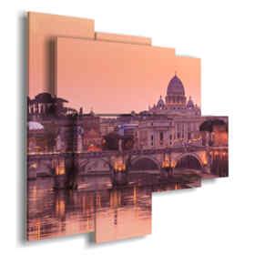 cuadro con la imagen Roma por la noche