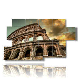 Modern picture with Rome Colosseum image