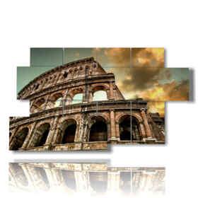 quadro con immagine roma colosseo