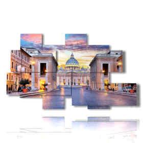 quadro con immagine roma