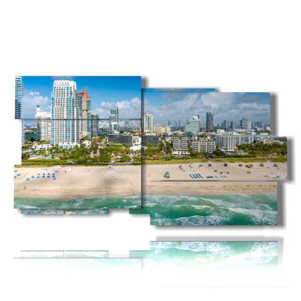 painting with Miami beach florida pictures