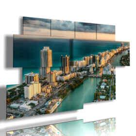 tableaux avec des photos Floride Miami