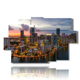 picture with photos Miami at night