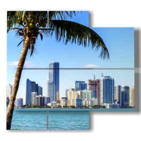 panel con imágenes de la playa de Miami