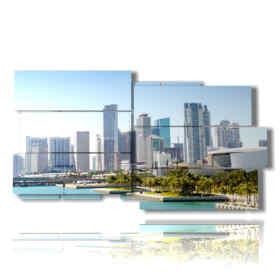 quadro con foto di Miami florida