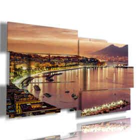 quadro con foto di città italiane sopra Napoli