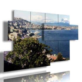 quadri paesaggi città a Napoli
