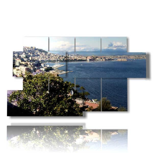 cuadros paisajes de la ciudad de Nápoles