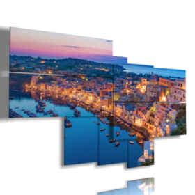 cuadro con imágenes de la ciudad italiana de Nápoles