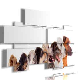 tableaux conçu avec des photos de chiens