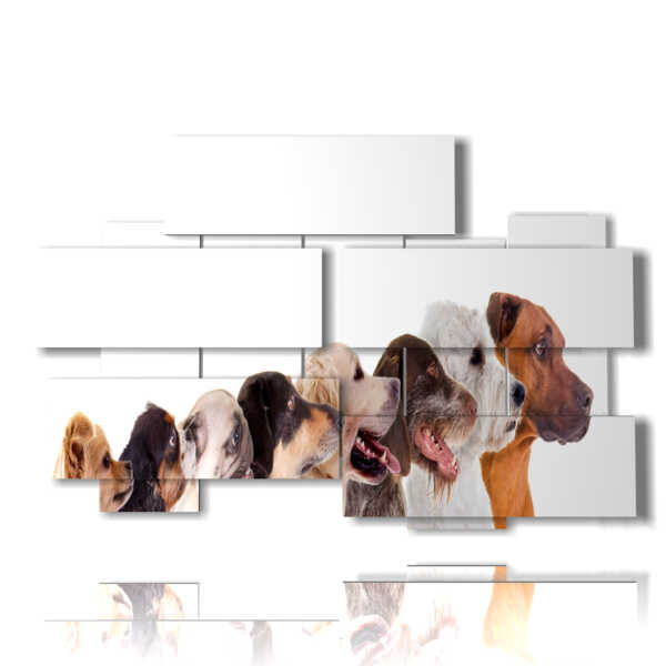 painting designed with photos of dogs