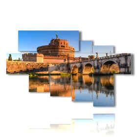 tableaux modernes Rome à Castel Sant'Angelo