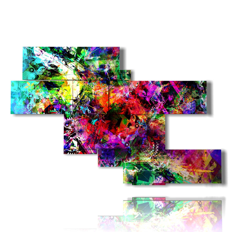 quadri colorati moderni tripudio di colori 3D DUUDAART