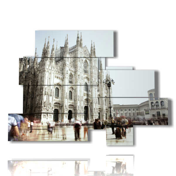 paintings by day of the Milan cathedral
