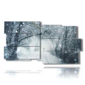 fantasía, nieve cuadros