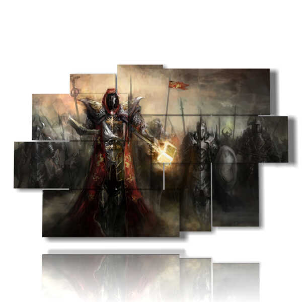 paintings with fantasy warriors pictures