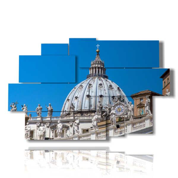 foto quadri Roma la cupola di San Pietro