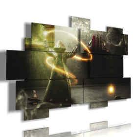 quadri con immagini fantasy dark