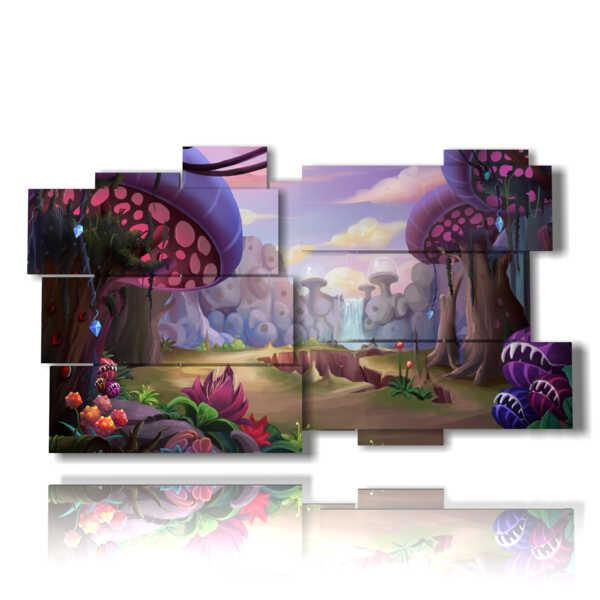cuadros con imágenes de fantasía con las setas