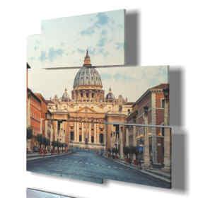 quadro moderno Roma - Castel Sant'Angelo 02