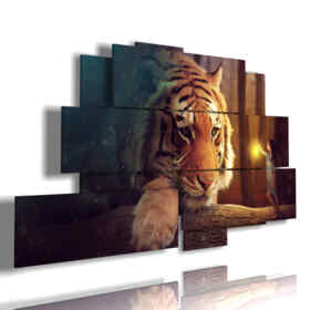 painting with fantasy pictures women and tiger