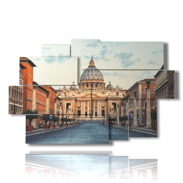 quadri moderni su tela Roma e Vaticano
