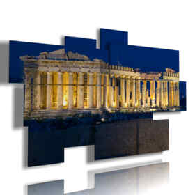 quadro con foto Atene di notte The Parthenon