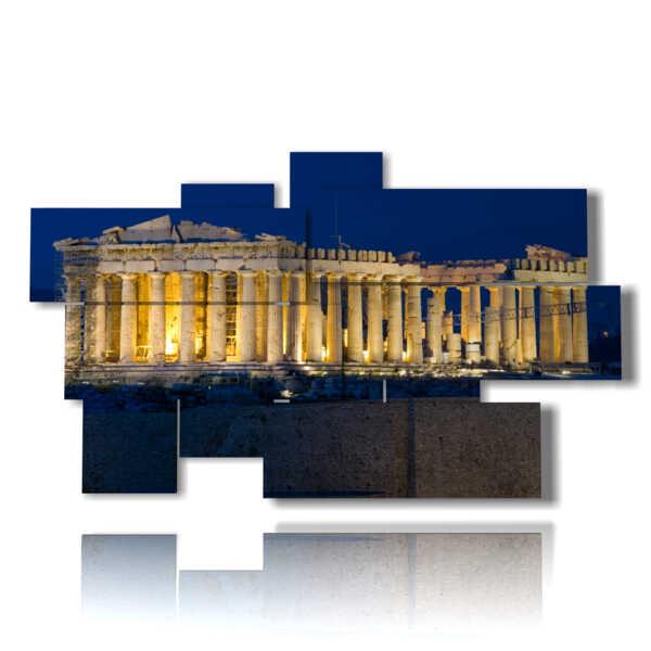quadro con foto Atene di notte The Parthenon