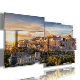 fotos de la ciudad de Atenas un cuadro