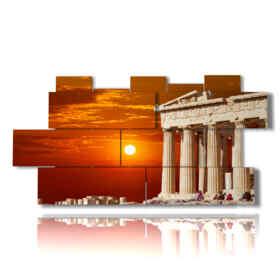 quadro con foto di Atene Grecia al tramonto