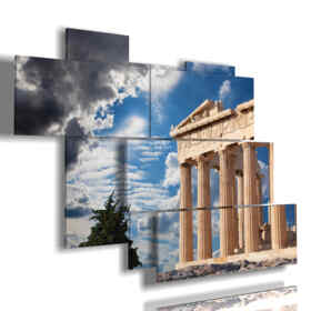 cuadro con fotos Parthenon Atenas