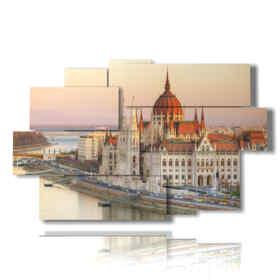fotos de Budapest cuadro central del Parlamento
