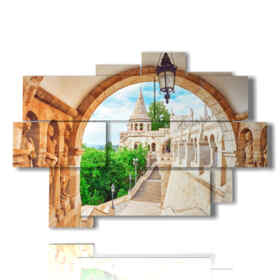 photos Budapest city  painting Old Fisherman Bastion