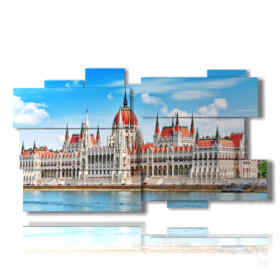 tableaux importantes du Parlement Budapest