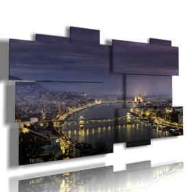 imágenes panorámicas de Budapest en la noche foto