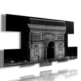 quadri parigini Arco di Trionfo bianco e nero