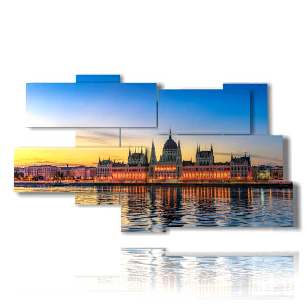 painting with panoramic photo images Budapest