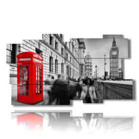 quadro con foto Londra cabina rossa