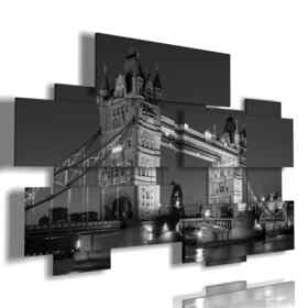 picture with photos of London black and white