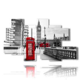 cuadro con fotos central de la cabina roja de Londres