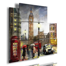 painting of town in London