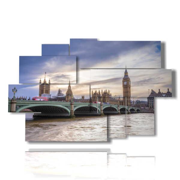 quadri moderni Londra panoramica
