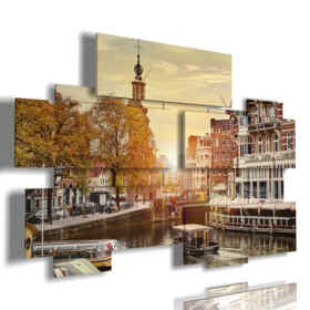 painting Amsterdam city