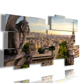 picture with photos in Paris from Notre Dame